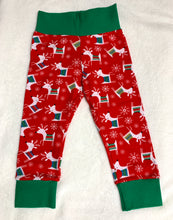 Load image into Gallery viewer, Toddler Pants | Holiday Reindeers | Gender Neutral