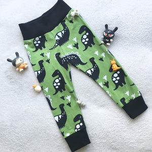 Kid Joggers - Baby Pants - Dinosaurs - CUTE - Comfortable