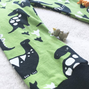 Toddler Pants | Green Dino | Gender Neutral