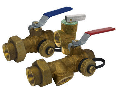 Lead Free Brass Tankless Water Heater Valve Kit - Valve Warehouse - 1