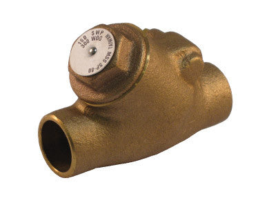 Sweat Lead Free Bronze Y-Pattern Check Valve - Valve Warehouse