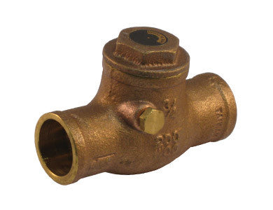 Sweat Brass Horizontal Check Valve - Valve Warehouse