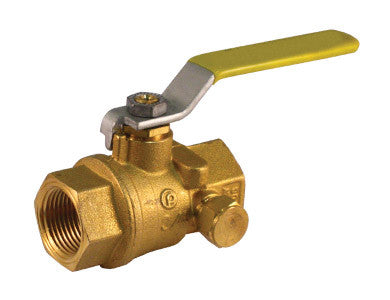 Threaded Premium Brass Ball Valve with Side Tap - Valve Warehouse