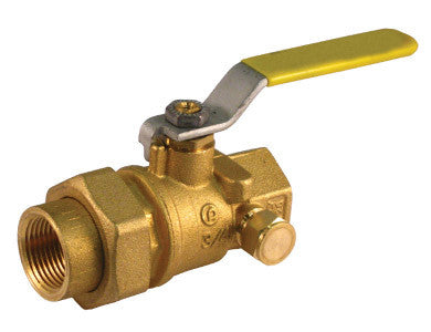 Threaded Premium Brass Ball Valve with Union End - Valve Warehouse
