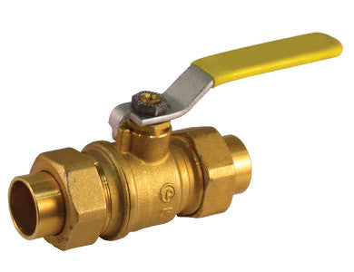 Sweat Premium Brass Ball Valve with Double Union End - Valve Warehouse