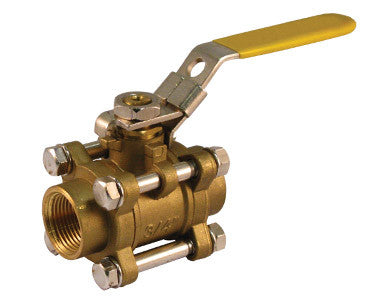 Threaded Brass 3 Piece 4 Bolt Ball Valve - Valve Warehouse