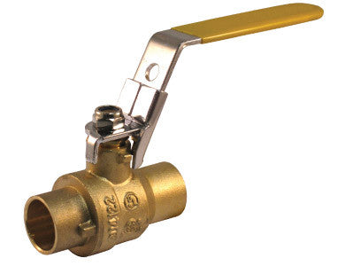 Sweat Brass Ball Valve with Locking Handle - Valve Warehouse