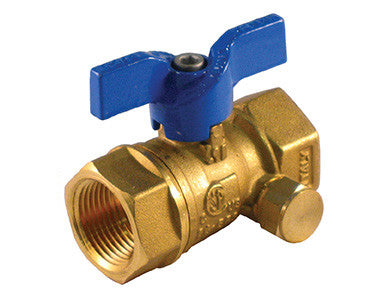 Threaded Premium Brass Gas Ball Valve with Side Tap - Valve Warehouse