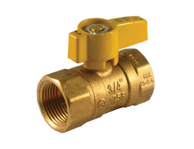 Threaded Brass Gas Ball Valve with Teardrop Handle - Valve Warehouse