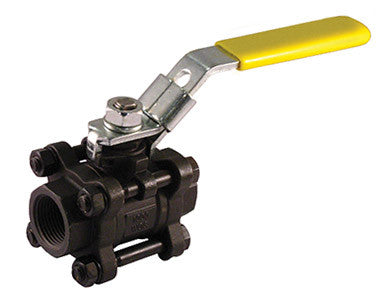 Threaded Carbon Steel 3 Piece 4 Bolt Ball Valve - Valve Warehouse