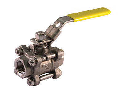 Threaded Stainless Steel 3 Piece 4 Bolt Ball Valve - Valve Warehouse