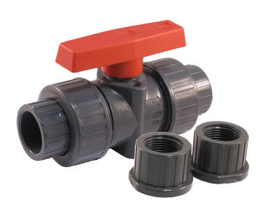Tru-Union Threaded and Solvent PVC Ball Valve with NPS Connections - Valve Warehouse