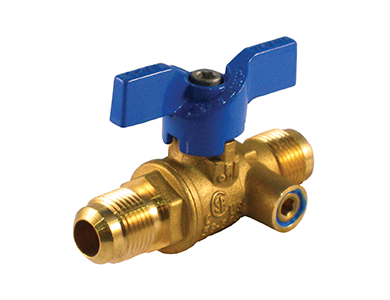 Flare x Flare Premium Gas Ball Valve with Side Tap - Valve Warehouse