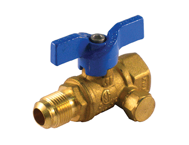 Flare x Female Premium Gas Ball Valve with Side Tap - Valve Warehouse