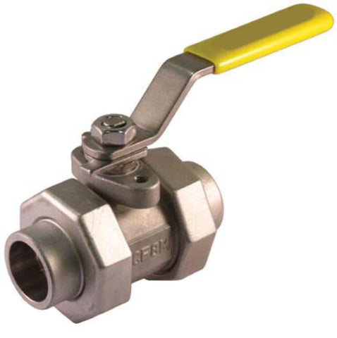Socket Weld Double Union End Stainless Steel Ball Valve 5pc 3000 WOG - Valve Warehouse