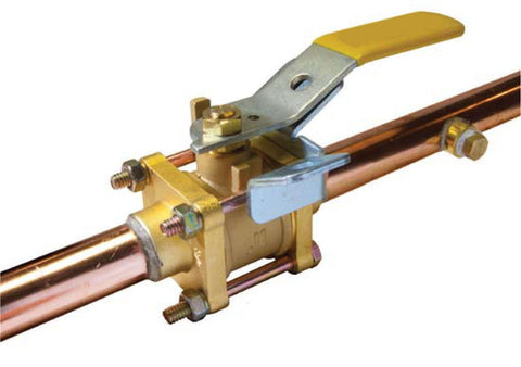 Copper Stub End Oxygen Cleaned Brass Medical Gas Ball Valve with Single Gauge Port - Valve Warehouse