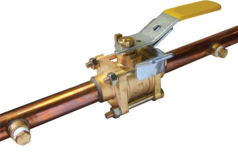 Copper Stub End Oxygen Cleaned Brass Medical Gas Ball Valve with Double Gauge Port - Valve Warehouse