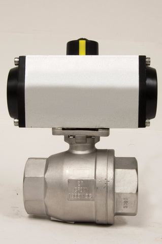 Direct Mount Double Acting Pneumatic Actuator, Stainless Steel Ball Valve, 1000 WOG - Valve Warehouse