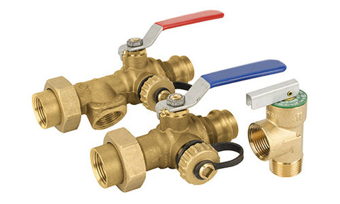Lead Free Brass Tankless Water Heater Valve Kit - Valve Warehouse - 2