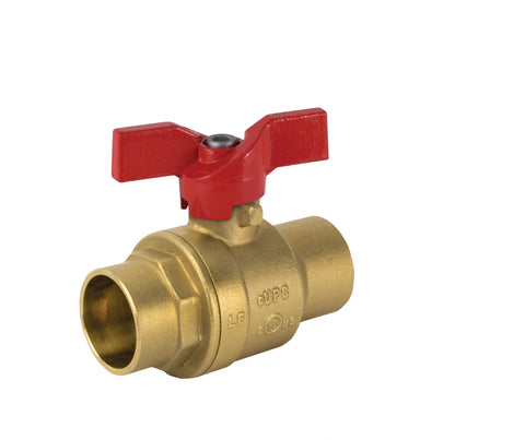 Lead Free Brass Solder T-handle Ball Valve