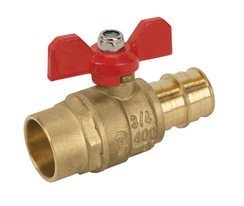 Lead Free Brass Solder x Expansion Pex Ball T-handle Valve