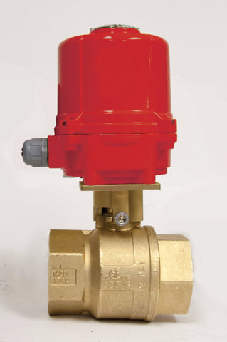 Direct Mount Double Acting Electric Actuator, Premium Brass Ball Valve, 600 WOG - Valve Warehouse
