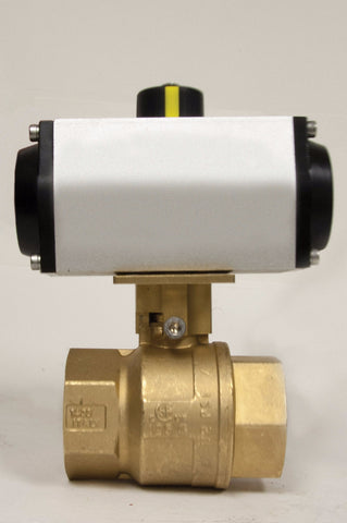 Direct Mount Spring Return Pneumatic Actuator, Premium Brass Ball Valve, 600 WOG - Valve Warehouse