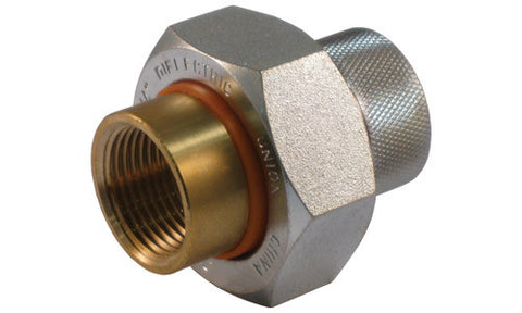 Brass FIP x Galvanized FIP Dielectric Union - Valve Warehouse