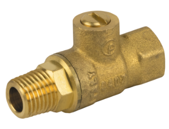 FIP x MIP Threaded Premium Brass Mini Ball Valve with Screwdriver Slot Handle - Valve Warehouse