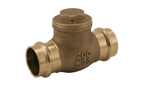 Lead Free Brass Press Connection Horizontal Check Valve - Valve Warehouse