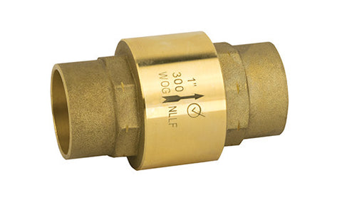 Lead Free Brass Solder Inline Check Valve - Valve Warehouse