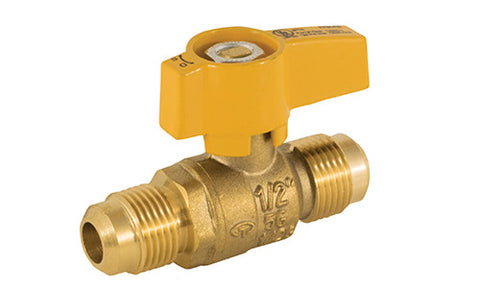 Flare Connection Brass Gas Ball Valve with Teardrop Handle - Valve Warehouse