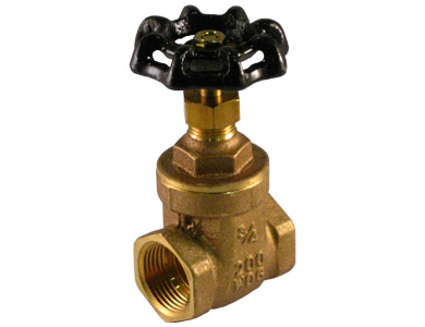 Threaded Brass Gate Valve with Non-rising Stem - Valve Warehouse