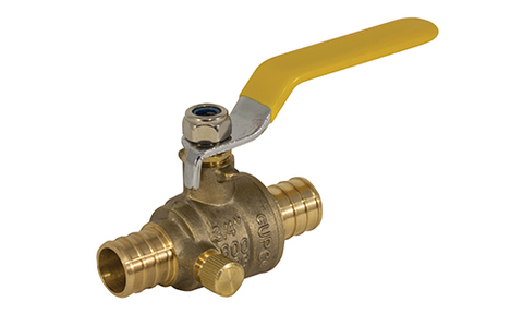 Lead Free Brass PEX x PEX Ball Valve with Drain - Valve Warehouse