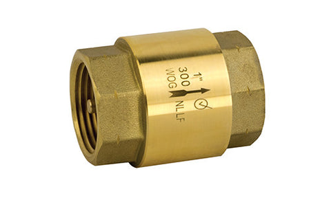 Lead Free Brass Threaded Inline Check Valve - Valve Warehouse