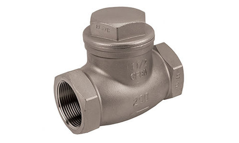 Stainless Steel Threaded Horizontal Swing Check Valve - Valve Warehouse