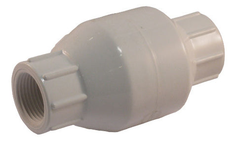 Threaded Connection Schedule 40 PVC In-Line Check Valve - Valve Warehouse