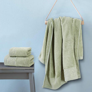 Spread Bamboo Towel - Olive 'High Absorbent & Super Soft 360 GSM