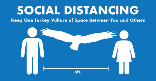 graphic about social distancing