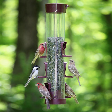 More Birds® Large Combo Tube Combination Sunflower/Thistle Bird Feeder, 3.8 lb. capacity, 17.5 in.