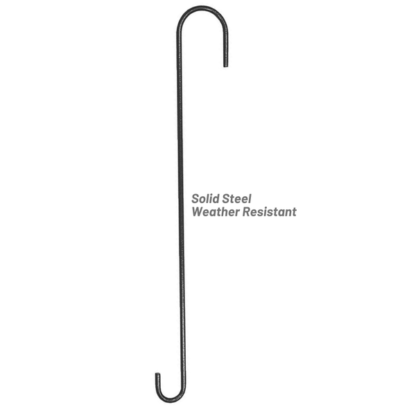 More Birds 12 inch Extension Hook solid steel construction is weather-resistant