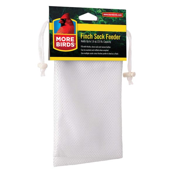 More Birds® White Nylon Finch Sock, 2 pack, 2 lb. capacity per sock Bird Feeder More Birds