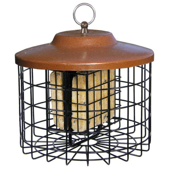 Squirrel-X™ by More Birds® Double Suet Cage Squirrel-Proof Bird Feeder, 2 suet cake capacity