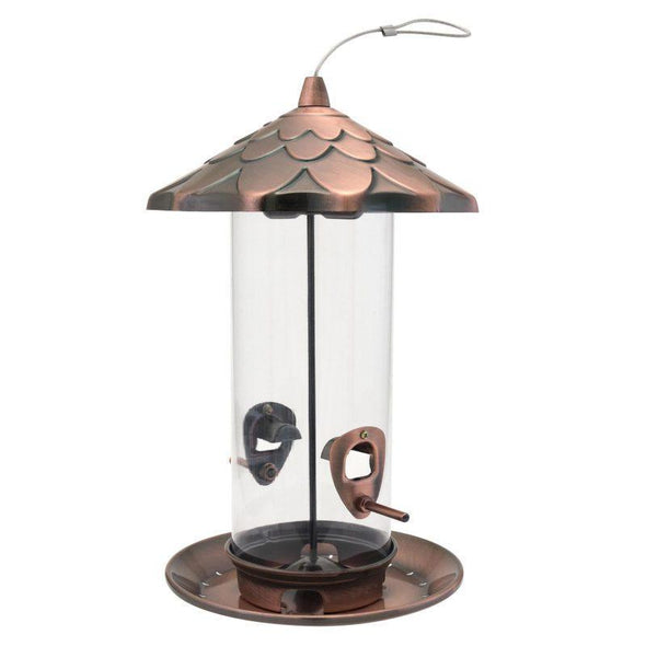 More Birds Copper Acorn Tube Feeder