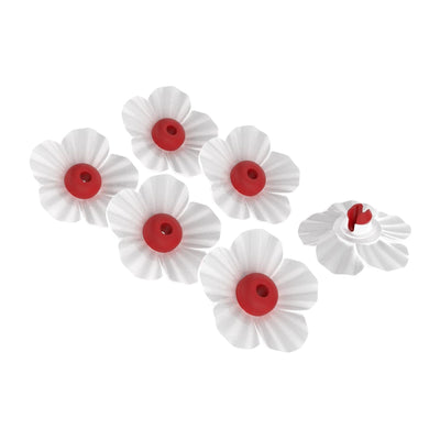 More Birds® Replacement White and Red Nectar Flowers, 6-pack