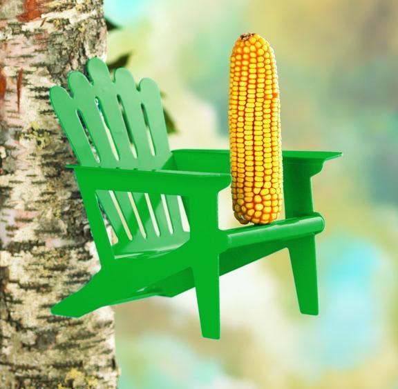 More Birds® Adirondack Chair Squirrel Feeder, 1 Corncob capacity Accessory More Birds