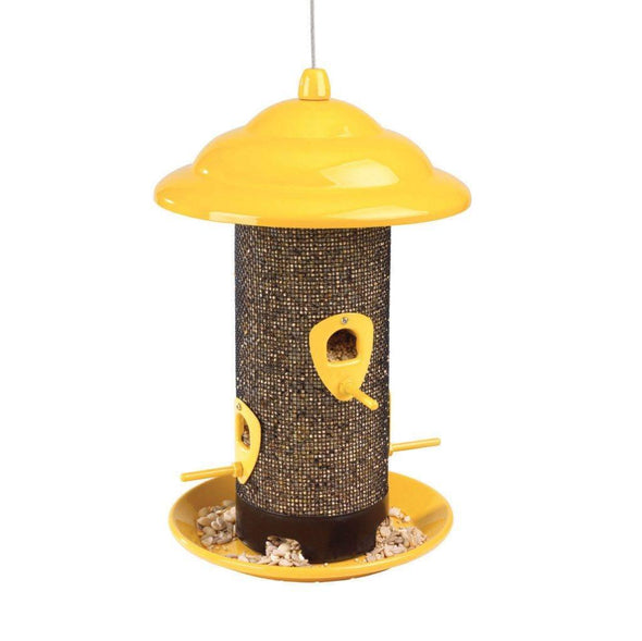 More Birds Sedona Screen Bird Feeder filled with bird seed