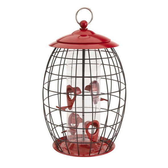 More Birds Sweet Tweet Café Squirrel-Resistant Caged Tube Feeder