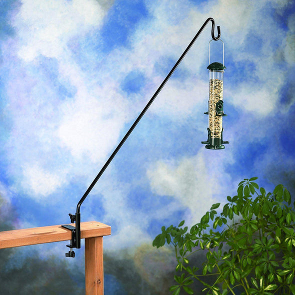 More Birds® 36 in. Extended Reach Deck Hook for Bird Feeders, Plants & Wind Chimes Accessory More Birds