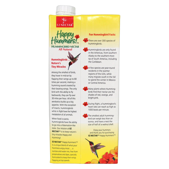 EZNectar® Happy Hummers!® Clear Ready-to-Use Hummingbird Nectar Accessory EZNectar